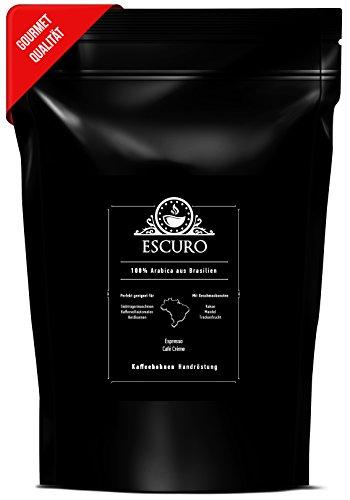 ESCURO ESPRESSO | handgerösteter Espresso, 100% Arabica Kaffeebohnen aus Brasilien (250g) | säurearme, bekömmliche Espressobohnen | Single Origin Espresso