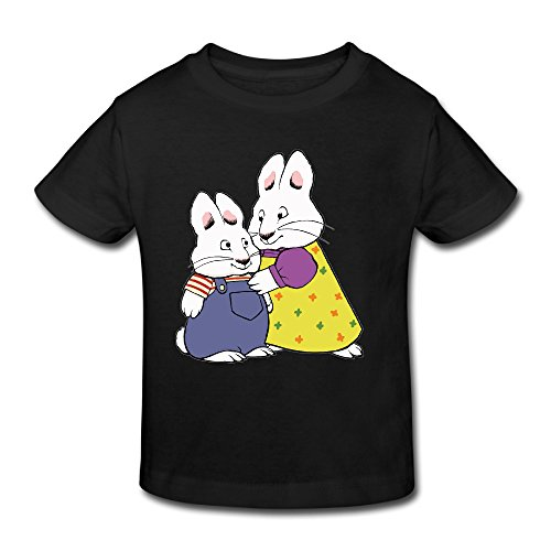 KNOT Slim Fit Max And Ruby Kids Toddler T-Shirt Black US Size 5-6 Toddler