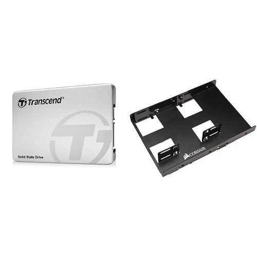 Transcend 240 GB TLC SATA III 6Gb/s 2.5'' Solid State Drive (TS240GSSD220S) & Corsair Dual SSD Mounting Bracket 3.5''Bundle by Transcend (Image #1)'