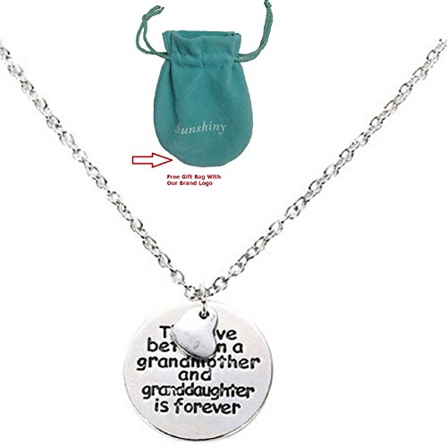Grandmother Granddaughter Necklace Funny 70th Birthday