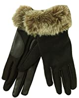 Isotoner Faux Fur Dress Smart Touch Gloves