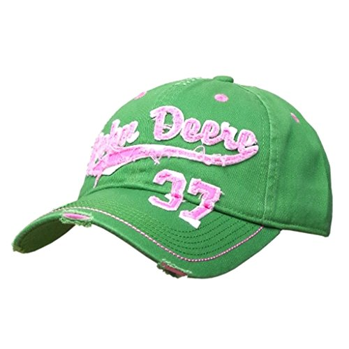 John Deere Mossy Green and Pink Vintage Hat