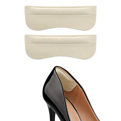 Heel Grip Liner for Women and Men,Heel Cushions Inserts for Shoes Too Big,Prevent Heel Slipping, Rubbing, Blisters, Foot Pain, and Improve Shoe Fit, 6 Pieces (Beige)