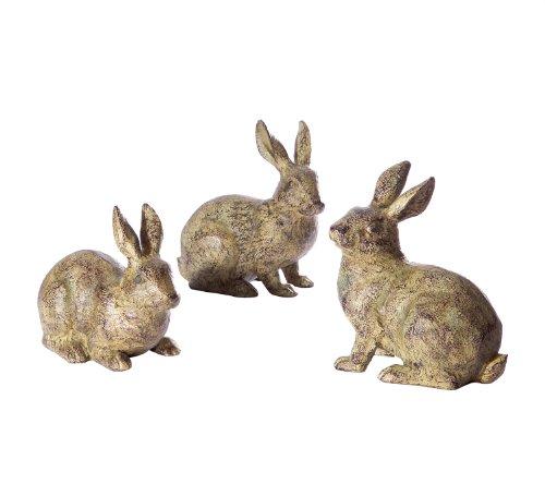 Facing Garden Accent - Melrose Assorted Rabbit, 6-Inch High, Set of 3