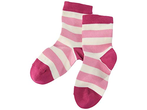 Grödo (Groedo) Organic Cotton Children Kids Socks (3-pack) Made in Germany (1-2 Years, Berry/Natural/Rose) - Infant Natural Apparel