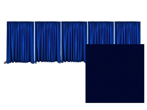 Adjustable Pipe and Drape Premier Backdrop Kit 14 ft. x 50 ft. - Navy Blue by P.D.O.