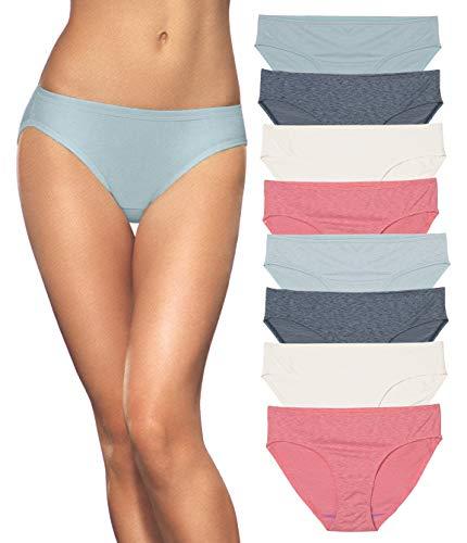 Fruit of the Loom Women's 8pk Dream Flex Bikini (Beach Tones, -
