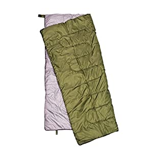 REVALCAMP Lightweight Sleeping Bag - Olive - Indoor & Outdoor use. Great for Kids, Teens & Adults. Ultra Light and Compact Bags are Perfect for Hiking, Backpacking, Camping & Travel.