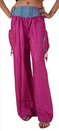 rayonne Console SnS Pantalon avec Rose poches Pant Palazzo H6d4vOpdq