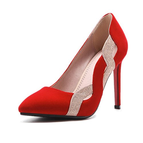 Heels Thin Shoes Shoes Shoes Shoes Wedding Red Shallow Sharp Women'S Single High And Bride Sweet Of gules KPHY Pa1nXOYa