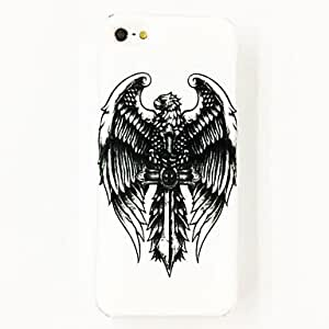 Mini - Cross Wing Pattern Plastic Hard Case for iPhone 4/4S , Color: Multicolor