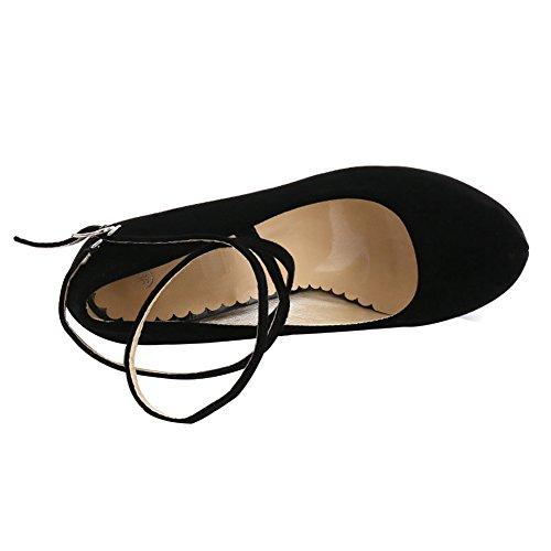 Platform Dress fereshte Heels Ankle Women's Black Pumps A Party Strappy High wxf1WxU