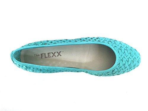 Flexx Intrecciata Donna The 77 Marine traforata Ballerina Pelle Scarpa 2101 dR1wqP