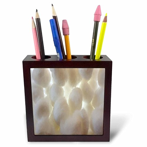 3dRose TDSwhite – Miscellaneous Photography - Cotton Balls Puffs Backlit - 5 inch Tile Pen Holder (ph_285381_1) by 3dRose