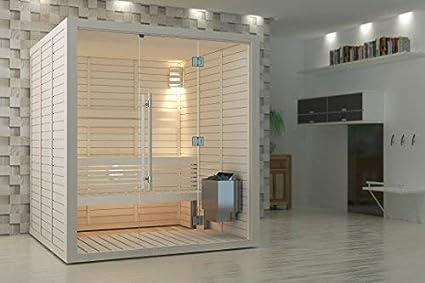 NB mod/èle Sauna Po/êle /Électrique SAWO NORDEX 2017 Gamme de puissance: 4,5 kW; 6,0 kW; 8,0 kW; 9,0 kW; avec unit/é de contr/ôle int/égr/ée ; Multi-Tension: soit monophas/é ou triphas/é;