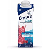 Ensure Clear Mixed Berry, 8 Ounce Recloseable Carton, Abbott 64900 - Case of 24