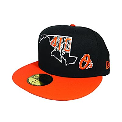 Baltimore Orioles 410 AREA CODE STATE Navy Fitted 59Fifty New Era MLB Hat