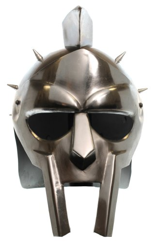 Gladiator Helm (RedSkyTrader Mens Spike Greek Gladiator Helm One Size Fits Most Metallic)