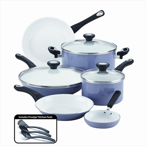 Farberware PURECOOK Nonstick best Ceramic Cookware 12-Piece Cookware Set, Lavender