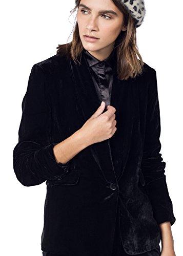 Wildfang Bonet Black Velvet Tuxedo Blazer