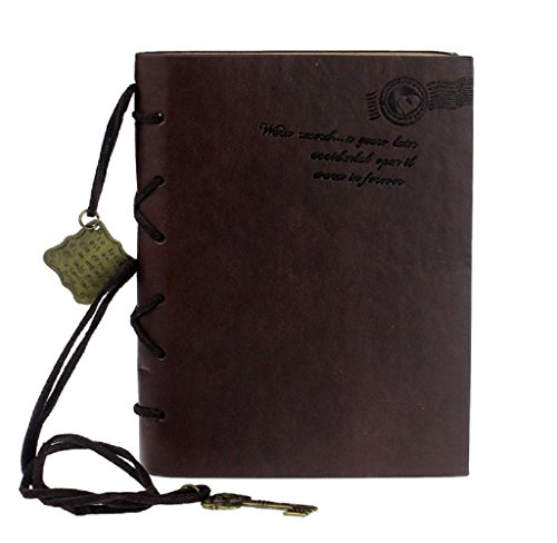 START Vintage Magic Key String Leather Dark Brown Diary Notebook by Start (Image #1)