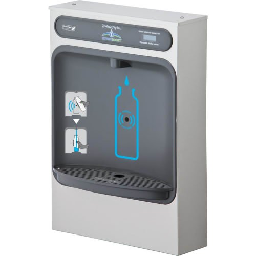Halsey Taylor HTHBSM Wall Mounted ADA Indoor Rated Bottle Filler - Remote Chille, Stainless Steel