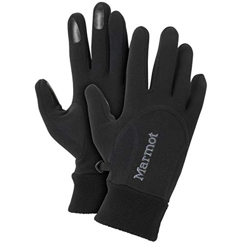 (Marmot Women's Power Stretch Glove, Black,)