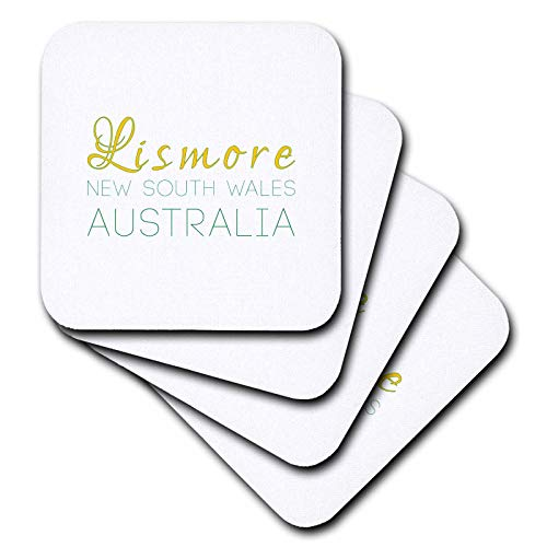3dRose Alexis Design - Australian Cities - Lismore New South Wales patriotic Australia home town design - set of 4 Coasters - Soft (cst_309203_1)