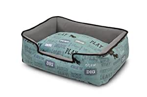 P.L.A.Y. Pet Lifestyle and You Dog's Life Light Blue Lounge Bed, X-Large