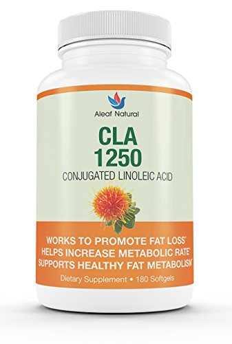 CLA 1250 Safflower Oil – All Natural Fat Burner and Thermogenic Weight Loss Supplement Pills, Made in USA