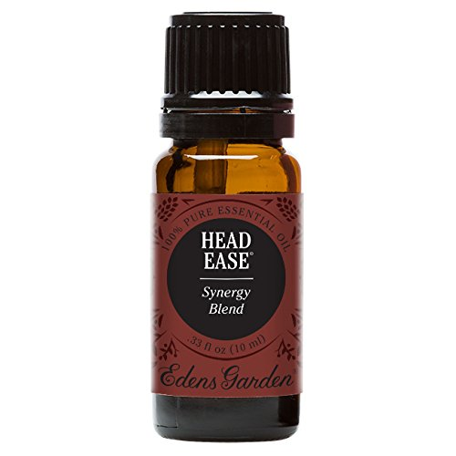 Edens Garden Head Ease 10 ml 100% Pure Therapeutic Grade GC/MS Tested (Lavender, Peppermint, Rosemary, Frankincense, Basil, Chamomile, Ginger, Spearmint, Helichrysum)