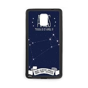 Diy Aries constellation Custom for samsung galaxy note 4 Black Shell Phone Cover Case LIULAOSHI(TM) [Pattern-1] by Maris's Diary