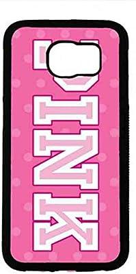 Victoria s Secret Rosa VS Teléfono Móvil, Victoria s Secret Samsung Galaxy S6, Samsung Galaxy S6 Victoria s Secret Teléfono Móvil, VS Rosa teléfono móvil, plástico duro protector para Samsung Galaxy S6: