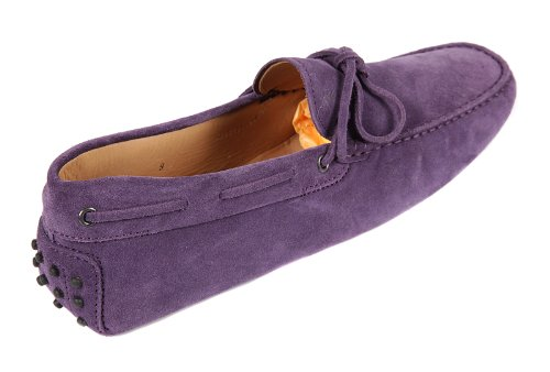 Tod's men's suede loafers moccasins gommini purple US size 9.5 XXM0GW05470RE0L603