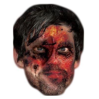 Celebrity Cutouts Zombie Jason Orange Mask, Halloween, Fancy Dress, Party