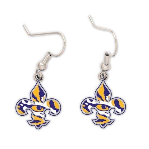 WinCraft NCAA Louisiana State University 73386011 Earrings Jewelry Card