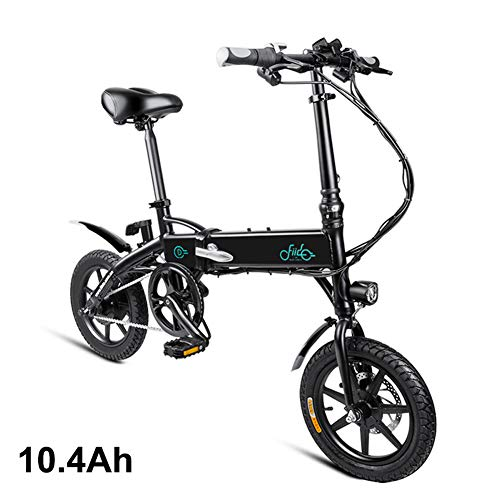 Leobtain Foldable Electric Bike,1 Pcs Electric Folding Bike Foldable Bicycle Safe Adjustable Portable for Cycling, 250W…