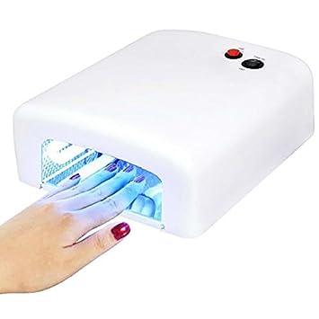 MP power @ Lampara Secador de Uñas UV para manicura permanente Esmalte de Uñas fijación de Shellac y Gel: Amazon.es: Electrónica