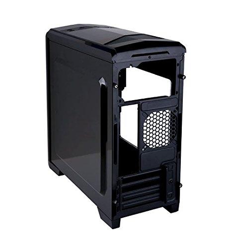 APEVIA X-QTIS-BK Micro ATX Gaming/HTPC Case, Supports Video Card up to 340mm/ATX PS, 1 x Window, USB3.0/USB2.0/HD Audio Ports, 1 x 120mm Blue LED fan, Dust filter, Black by Apevia (Image #3)