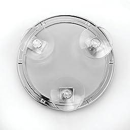 InterDesign Suction Bathroom or Shower Shaving Mirror - Chrome Finish