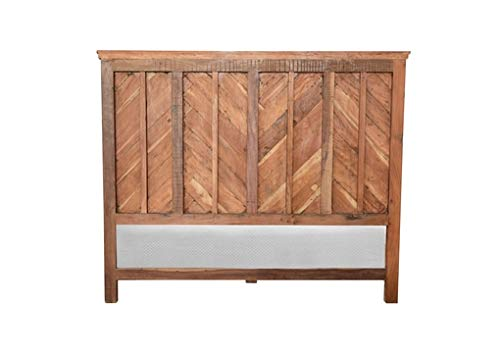 Amazon.com: Miranda Wooden Bed, Rustic Home Furniture, Handcrafted Designer Bed, Brown Color, Natural Finish: Kitchen & Dining