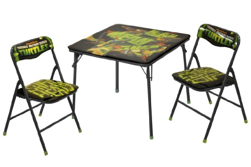 Nickelodeon Teenage Mutant Ninja Turtles 3-Piece Square Table and Chair Set Children Folding Table And Chairs