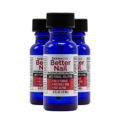 Better Nail  Maximum Strength 25% Solution for Anti Fungal Nail Support | Nail Solution for Toenail amp Fingernail Fungus | 5oz or 15ml  3Pack