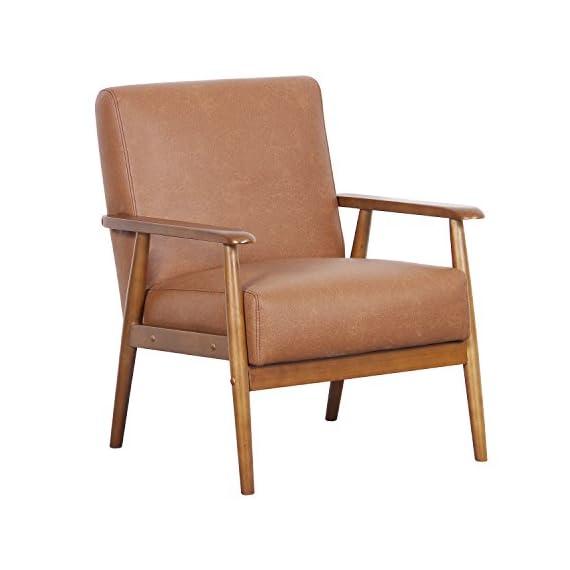 "Pulaski Home Comfort Mid Century Modern Wood Frame Accent Chair, 25"" x 28"" x 30.5"", Neutral Chestnut -  - living-room-furniture, living-room, accent-chairs - 41K%2B JYK1aL. SS570  -"