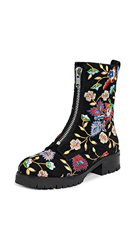 alice + olivia Women's Dustin Zip Boots, Multi/Black, 38 EU (8 B(M) US Women)