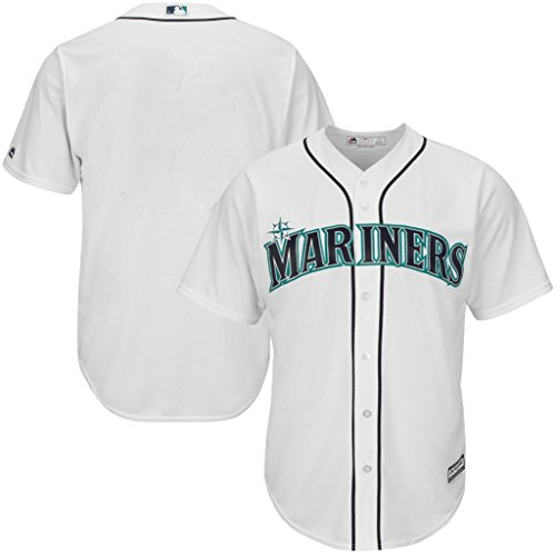 (VF Seattle Mariners MLB Mens Majestic Alternate Cool Base Replica White Jersey Big & Tall Sizes (5XL))