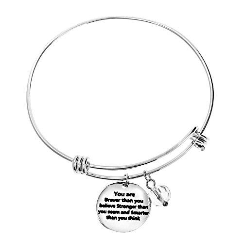 Braver Believe Inspirational Expandable Bracelet product image