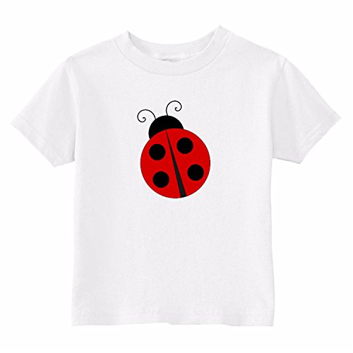 U.S. Custom Kids Ladybug Toddler T-Shirt, 3T T-Shirt, White Toddler (Custom Ladybug)