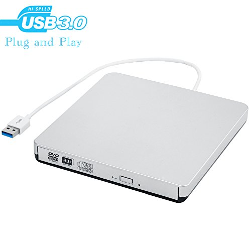 External CD Drive,MMUSC USB 3.0 Portable CD DVD Burner Write