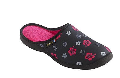 Fashion Manufacturer - Mule TOISON Femme fuschia ou violet - 38, Fuschia